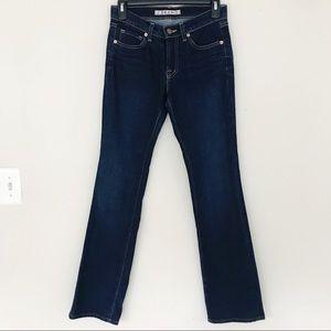 J Brand Slightly Flared Blue Jeans